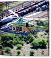 Zoo Flying Canvas Print