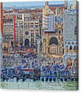 Zoom On St Marks Square Venice Italy Canvas Print