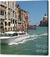 Zooming On The Canals Of Venice Canvas Print