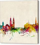 Zurich Switzerland Skyline Canvas Print
