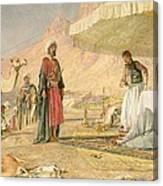A Frank Encampment In The Desert Of Mount Sinai Canvas Print