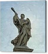 Angel With Cross. Ponte Sant'angelo. Rome Canvas Print