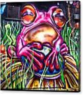 Atomic Frog Canvas Print