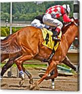 Betting On Number Four Canvas Print