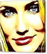 Cameron Diaz Pop Portrait Canvas Print