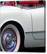 Classic White Corvette Canvas Print