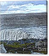 Detifoss Waterfall In Iceland - 01 Canvas Print