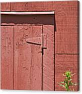 Faded Red Wood Barn Wall Canvas Print
