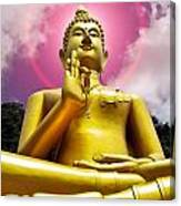 Golden Love Buddha Canvas Print