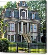 Gracious Victorian House In Montreal Canvas Print