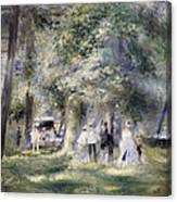 In The Park At Saint-cloud Canvas Print