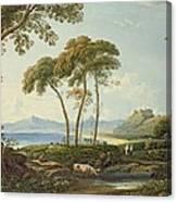 Landscape With Harlech Castle Canvas Print