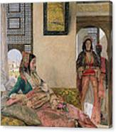 Life In The Harem - Cairo Canvas Print