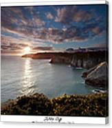 Lydstep Cliffs Sunset Canvas Print