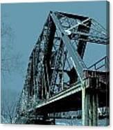 Mississippi River Rr Bridge At Memphis Canvas Print