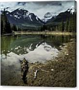 Muleshoe Pond Reflection Banff Canvas Print