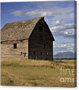 Old Big Sky Barn Canvas Print