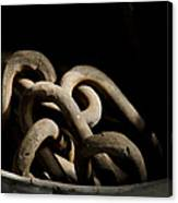 Old Rusty Chain In A Bucket Canvas Print