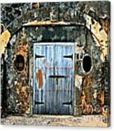 Old Wooden Doors Canvas Print