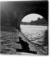 Paris Shadow Fisherman 1964 Canvas Print