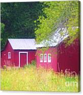 Peaceful Country Barn And Meadow Canvas Print