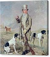 Richard Prince With Damon - The Late Colonel Mellish's Pointer Canvas Print