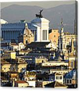 Rome's Rooftops Canvas Print