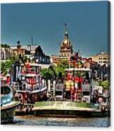 Savannah River View Canvas Print