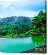 Scenery Of Mount Rinjani Canvas Print