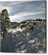 Sunrise On Frosted Hill Canvas Print