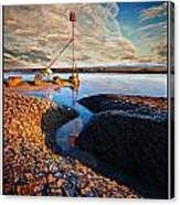 Sunset On The Marker Canvas Print