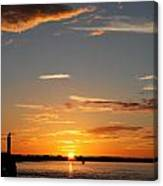Sunset Over The Sea Canvas Print