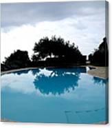 Tree At The Pool On Amalfi Coast Canvas Print