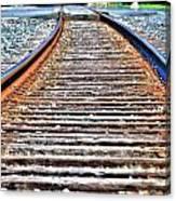 0002 Train Tracks Canvas Print