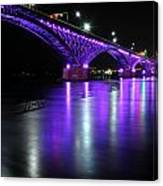 001 Peace Bridge Honoring Breast Cancer 2012 Series Canvas Print