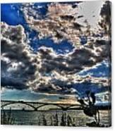 001 Peace Bridge Series II Beautiful Skies Canvas Print