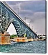 001 Stormy Skies Peace Bridge Series Canvas Print