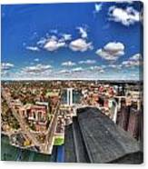 0017 Autumn Days Of Buffalo Ny Birds Eye Canvas Print