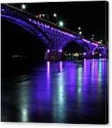 002 Peace Bridge Honoring Breast Cancer 2012 Series Canvas Print