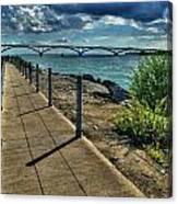 002 Peace Bridge Series II Beautiful Skies Canvas Print