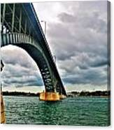 003 Stormy Skies Peace Bridge Series Canvas Print