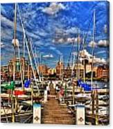 005 On A Summers Day  Erie Basin Marina Summer Series Canvas Print