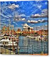 006 On A Summers Day  Erie Basin Marina Summer Series Canvas Print