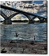 006 Peace Bridge Series II Beautiful Skies Canvas Print