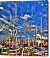 007 On A Summers Day  Erie Basin Marina Summer Series Canvas Print