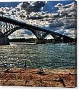 007 Peace Bridge Series II Beautiful Skies Canvas Print