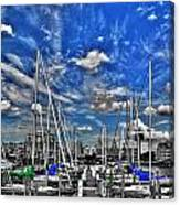 007sc On A Summers Day  Erie Basin Marina Summer Series Canvas Print