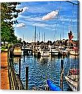 008 On A Summers Day  Erie Basin Marina Summer Series Canvas Print