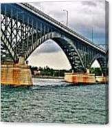 008 Stormy Skies Peace Bridge Series Canvas Print