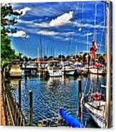 009 On A Summers Day  Erie Basin Marina Summer Series Canvas Print